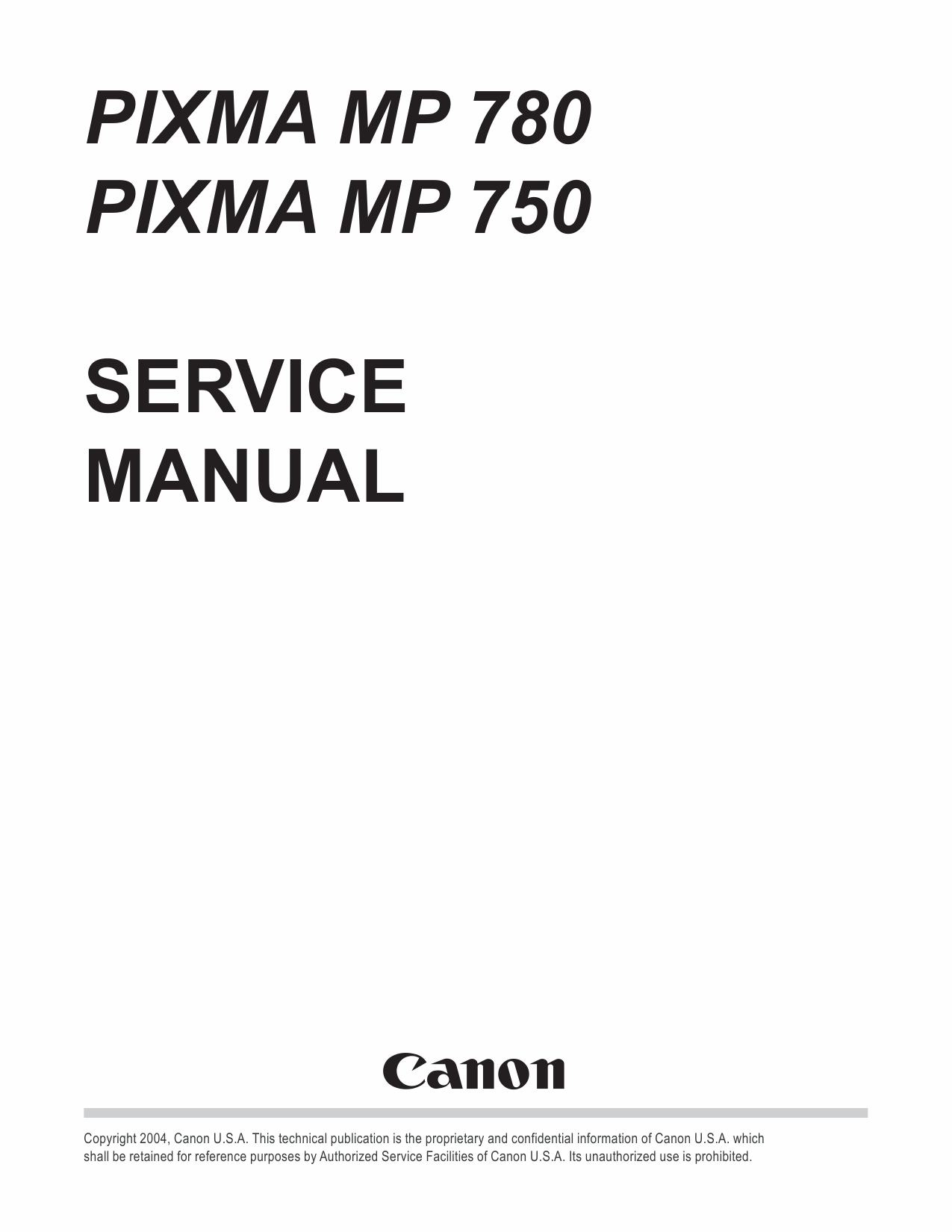 Canon PIXMA MP780 MP750 Service Manual-1